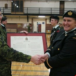 Receiving my commissioning scroll 2008